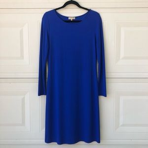 Michael Kors Collection Blue Long Sleeve Dress